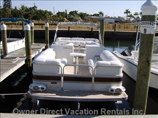 Optional Boat Rental - our 26ft Pontoon Boat is Available for Rental Too!