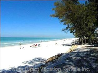 White Sandy Beaches - Yes, this is the Beach near our Vacation Home!