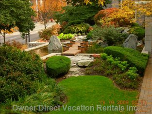 Garden Retreat with Pond and Waterfall