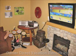 "Family Room - ps2 Rock Band  and Wii Awaits (42"" Plasma TV)"