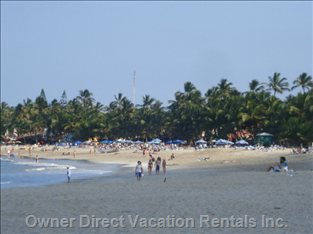 Cabarete Beach Just Steps from your Door and Lined with Restaurants and Shops