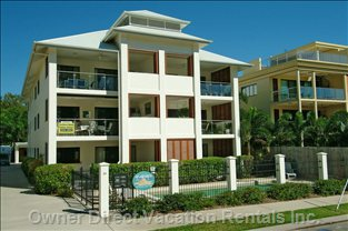 Apartment is on the Front with Ocean Views - Ground Floor Or Top Floor Apartments Overlook the Ocean, Palm Trees and Kite Surifing Beach.