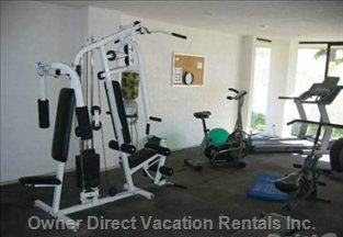 One of Two Gyms Available to Renters - this One's in Tower 1, the Building Right Next Door to your Apartment.