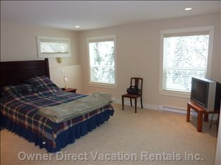 Master Bedroom with Views of Trees and Knoll Skiway