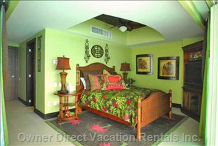 Master Bedroom (Walls Appear Greener than they Are)
