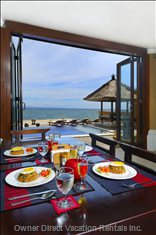 Typical Meal with a View - Villa Talia Vashti is Fully Catered, and Meals and Drinks Can be Provided upon Request at Local  Prices