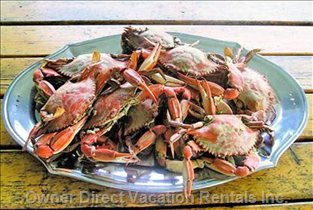 Enjoy Fresh Caught Crab Feast on Porch
