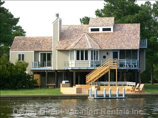 Chincoteague's Spinnaker Vacation Rental Home from the  Water