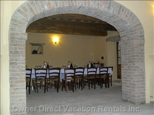 Our Restaurant Room for Fantastic Tipical Tuscany Dinner