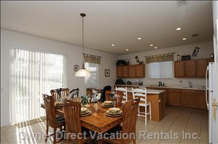 Large Dining Area with Fully Fitted Kitchen & Breakfast Bar