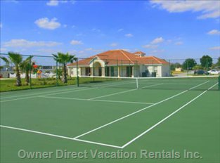 Clubhouse Tennis and Sand Volleyball Courts