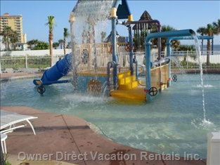 Kids Pool with Interactive Water Falls
