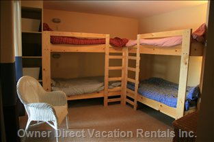 Snuggle down in the Cheery Bunk Room