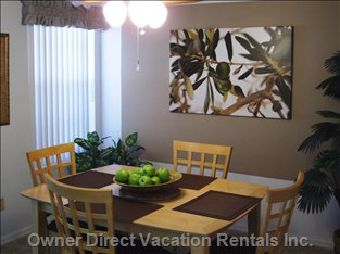 Enjoy Family Meals in the New, Professionally Designed Dining Room!