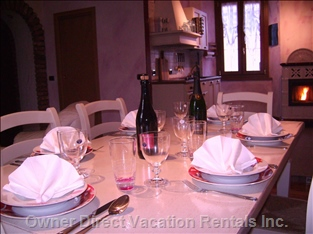 A Romantic Dinner in Glicine House