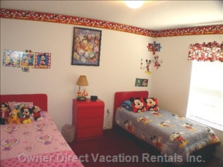 One of Two Disney-themed Bedrooms