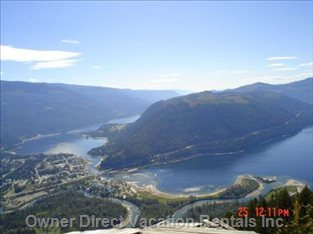Spectacular Viewpoint of Sicamous from Hang Gliding Platform