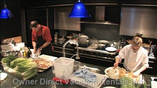 Our Gourmet Kitchen:  Viking Pro Commercial Cooktop & Double Ovens, Sub Zero Fridge, Two Miele Dishwashers...Nothing but the Best.