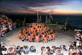 Spectacular Clifftop Sunset Kecak Dance at Uluwatu Temple is Close by