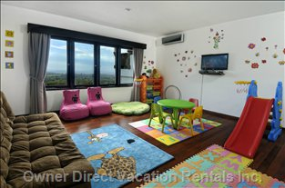 Dedicated Playroom with Games, Books, TV & Dvds