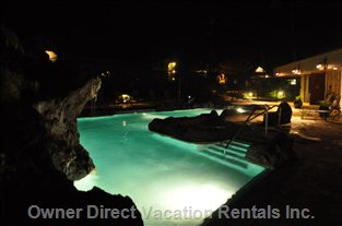 Cliffs Night Pool Shot