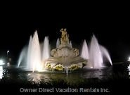 Princeville Fountain at Night - Welcomes you