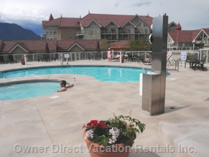 Outdoor Pool & Hot Tub - the Pool is Just a Short Skip of about 200 Feet Away from your Patio. Far Enough Away for Privacy but Close Enough to Just Run in and Enjoy.