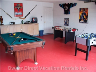 Games Room - the Kids and the Young Adults at Heart Will Love our Games Room, Fully Equipped with Air Hockey, Pool Table and Foosball for When you Are Feeling Competitive!