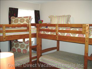 "Imagine the Kids in ""their"" Special Room Equipped with Two Sets of Bunk Beds their Own Flat Screen TV and DVD and more!"