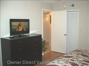 Of Course, you Have your Own Flat Screen TV Too!