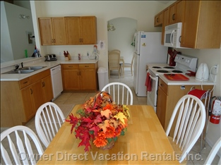Open, Fully Equipped, Eat-in Kitchen