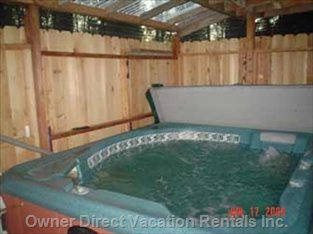 Enclosed 6 Person Hot Springs Spa Hot Tub