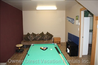 Go to the Game Room to Play Pool, Air Hockey Or Table Tennis
