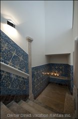 The Beauty of the Original Stone Staircases and Tile Panels
