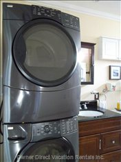 Full Size Washer and Dryer - Located inside the Home.
