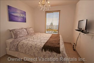 "Master Bedroom (Queen Bed) - Amazing Island View from this Room!  Also with 19'""  Lcd TV and WI-FI Capability."