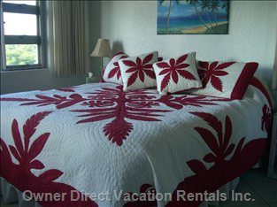 Master Bed - with Ocean/Mountain Views and Access to Lanai