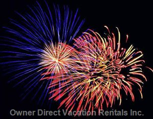 Nightly Summer Fireworks - Sea World Just 5 Minutes from the Penthouse Also Puts on Nightly Firework Shows Throughout the Summer.