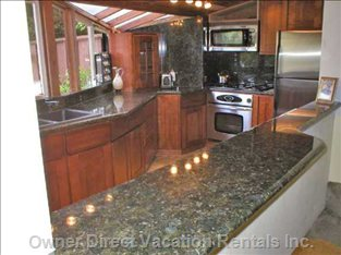 New Kitchen: Granite, Stainless, Marble, Bar to Socialize