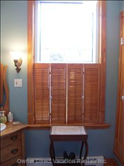 Large Bathroom Window with Shutters