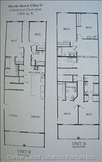 Floor Plan of Two Storey Unit.