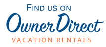 Find us on Owner Direct Vacation Rentals