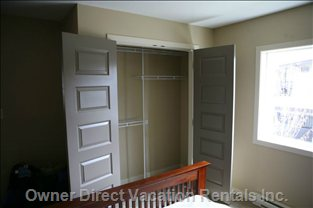 Bedroom #1 with Lots of Closet Space - There Are Large Closets in both Bedrooms.