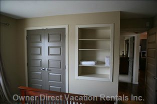 Bedroom #2 Closet and Convenient Shelving