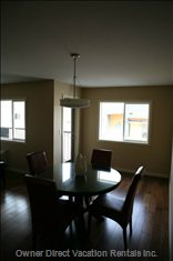 Dining Room Table & Patio Door