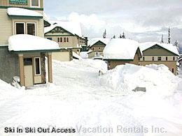 Ski-in/out is across from Unit