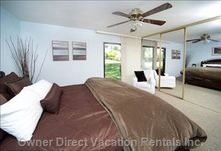 Master Bedroom W/Views of Greenbelts & Pool