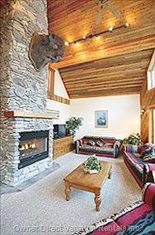 Great Room with Fireplace and Buffalo to Watch over you!