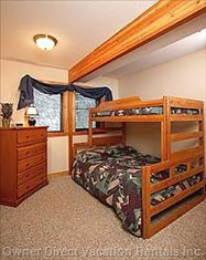 Main Floor Bedroom #2 with Single/Double Bunk Bed System
