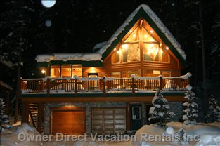 The Wayward Chalet at Night - Beautiful!